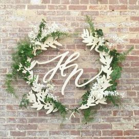 Laser cut wedding wreath