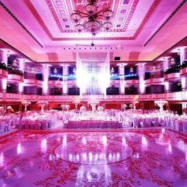 Dramatic light dance floor