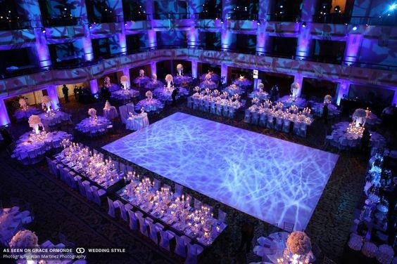 Dramatic marble dance floor