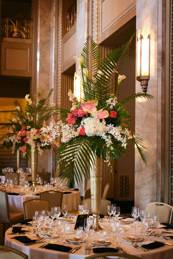 2018 wedding trends over the top centerpieces plant
