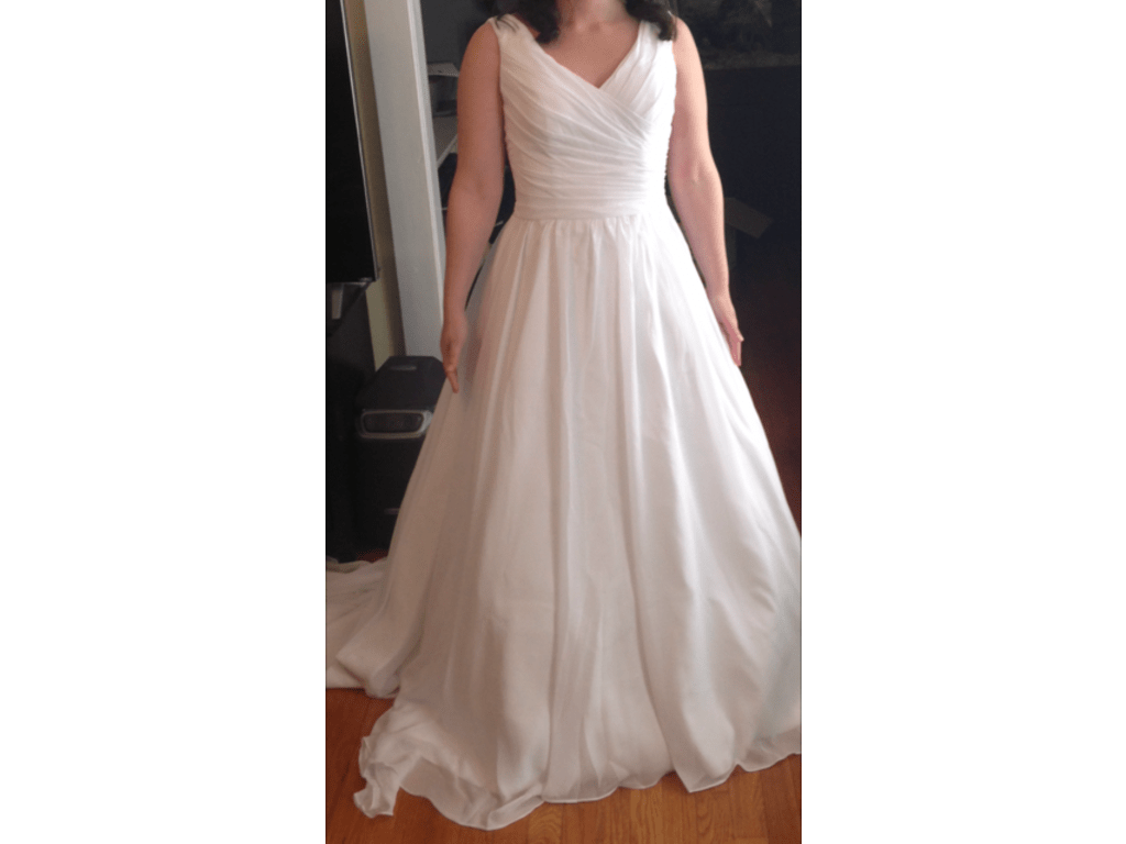 Other Queenly V-neckline Ball Gown Wedding Dress With Pl