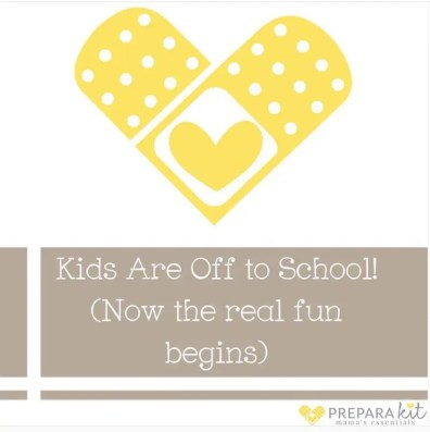 Kids Are Off to School - PreparaMom