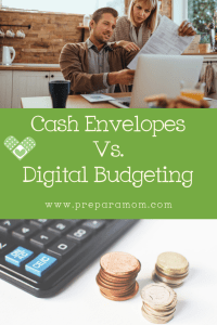 Cash Envelopes vs Digital Budgeting