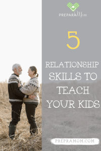 Pinterest image for teaching relationship skills