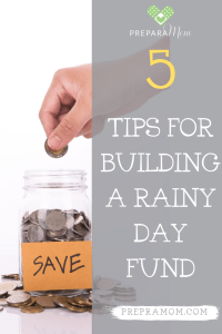 Pin image for 5 Simple Ways to Build up Your Rainy Day Fund