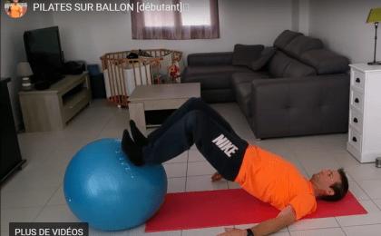 pilates débutant sur ballon