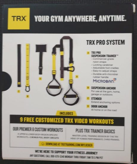 sangles de suspension TRX