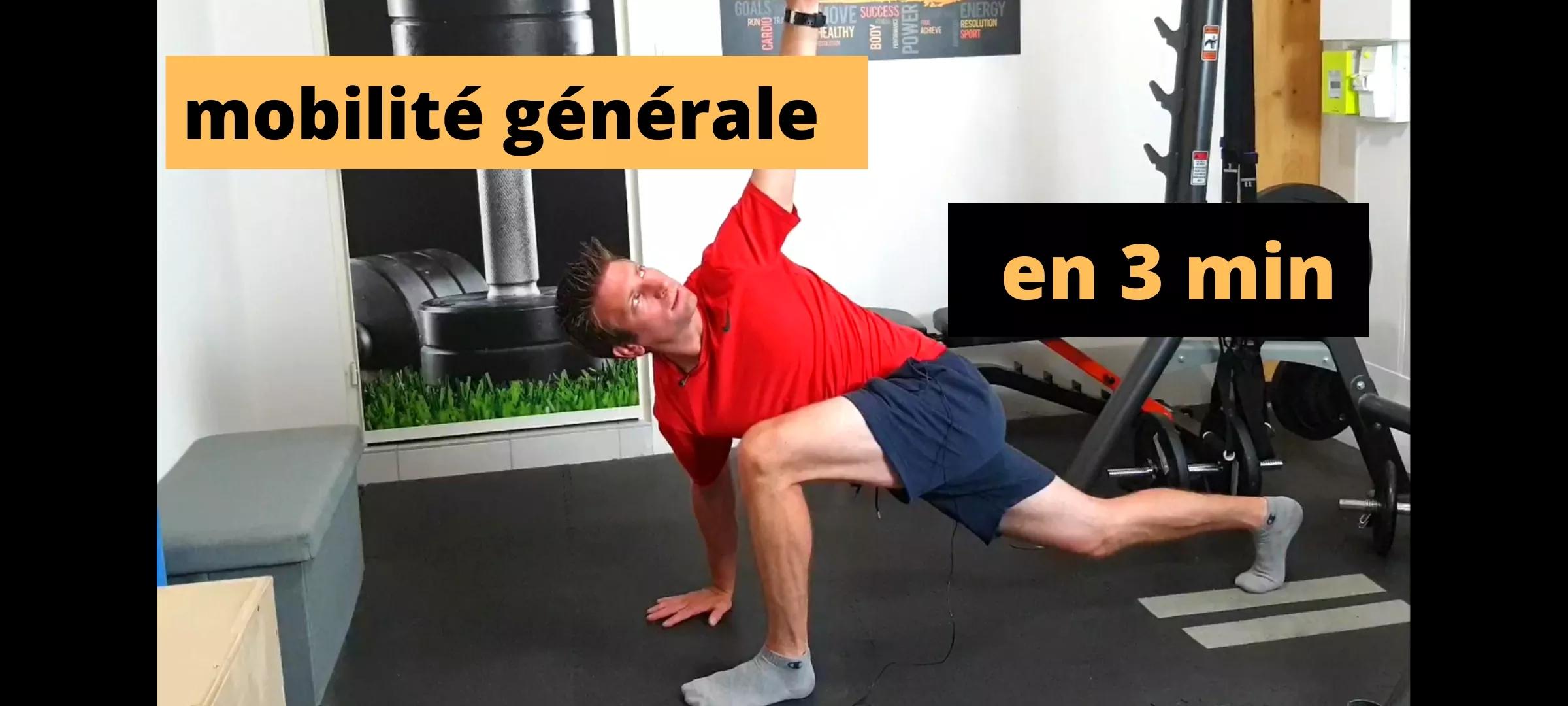 Découvrez comment augmenter votre mobilité articulaire en 3 min par jour