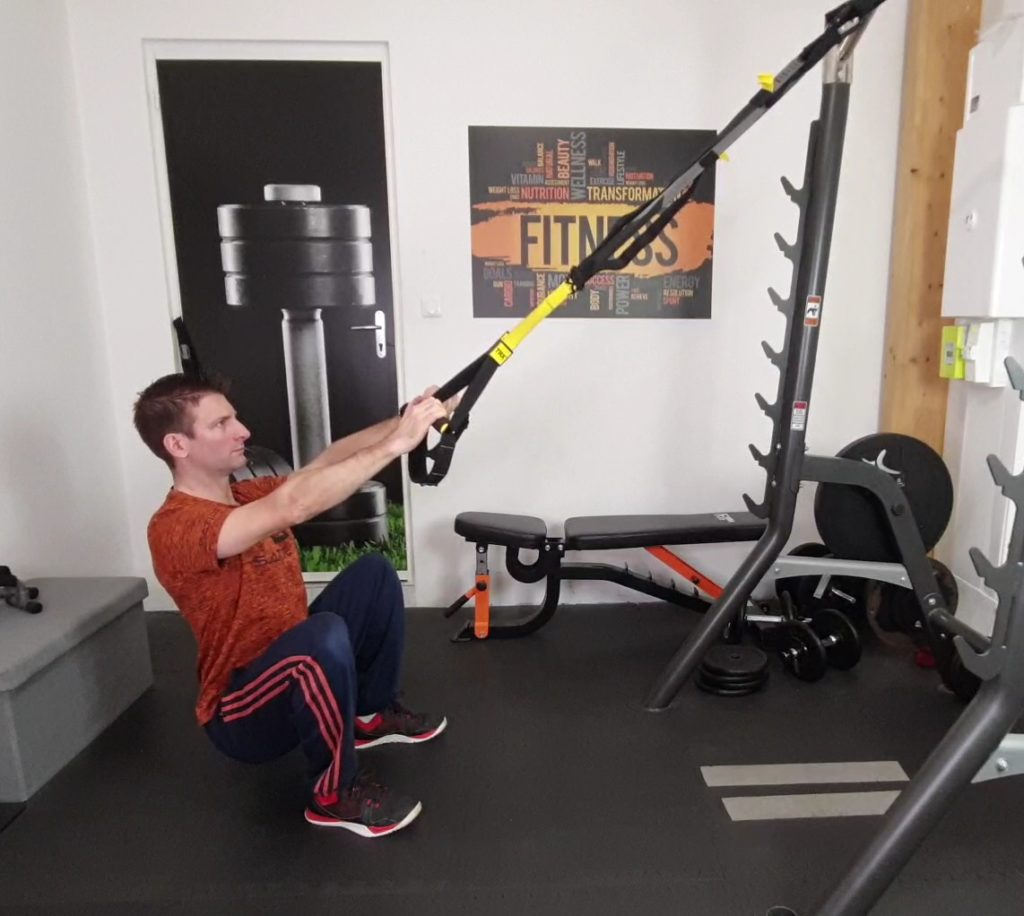 exercices jambes trx