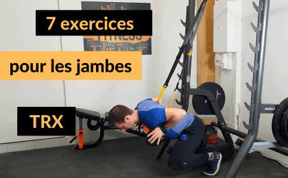 exercices jambes trx