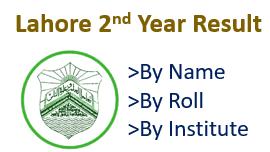 Bise Lahore inter part 2 result 2021 by roll number