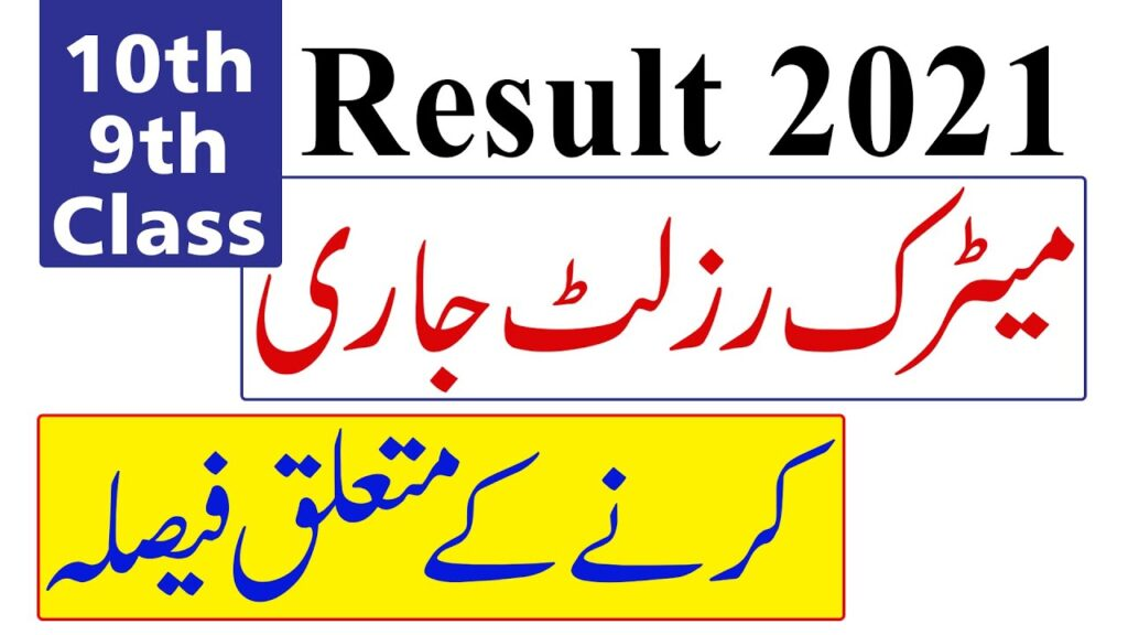 Result of 10th Class 2021 Punjab Board
