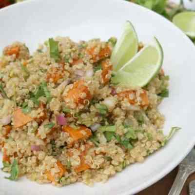 Pan Browned Sweet Potato & Quinoa Salad