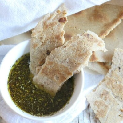 Gluten Free Flatbread with Herb Dipping Oil