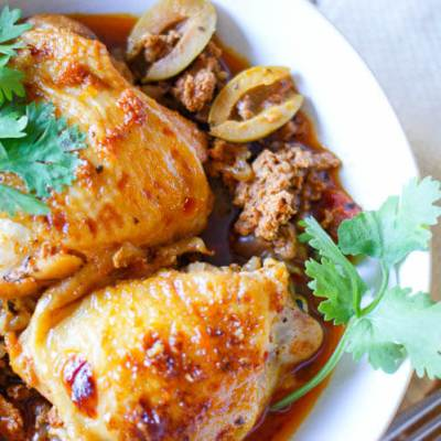 Instant Pot Citrus-Herb Basque Chicken