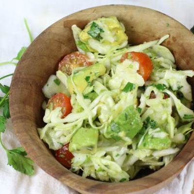 Avocado Cabbage Slaw (Low-Carb, Paleo, Whole30)