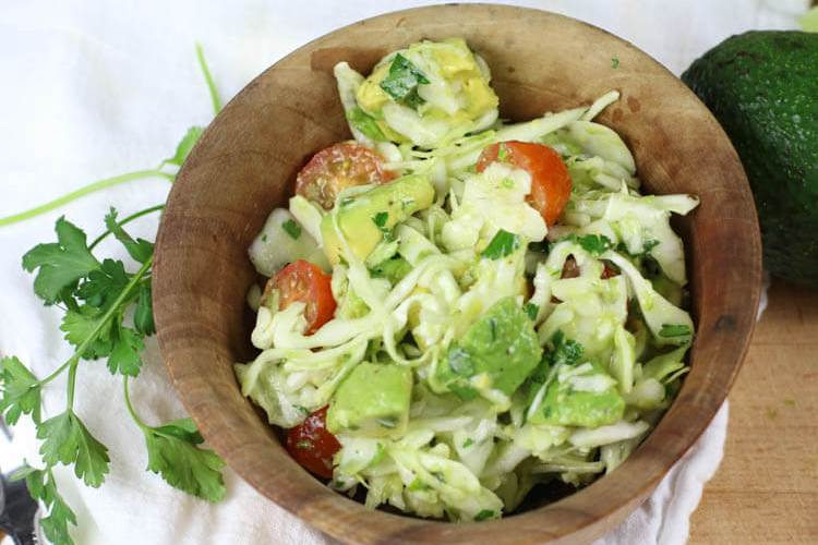 Avocado Cabbage Slaw (Low-Carb, Paleo, Whole30)