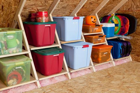 organize attic storage