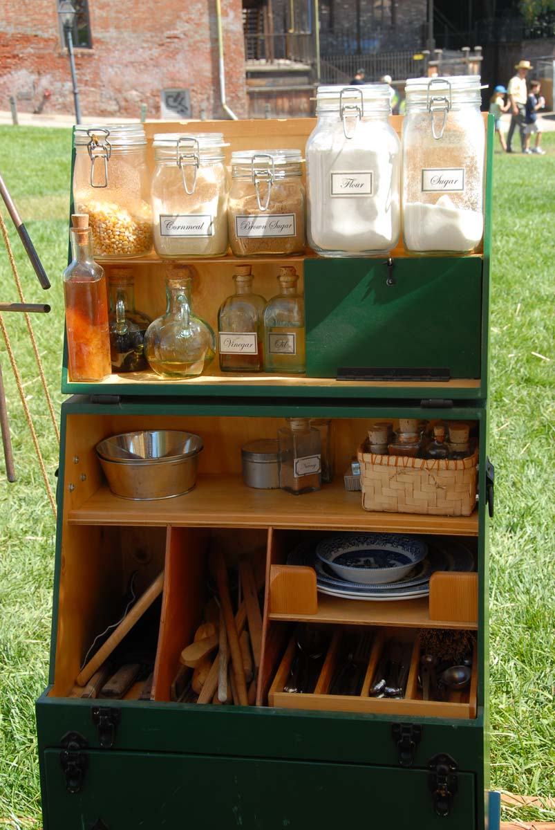 outdoor kitchen griddle black table set camp kitchens used by the pioneers are still practical