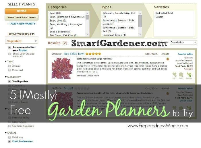 5 Mostly Free Online Vegetable Garden Planners Preparednessmama