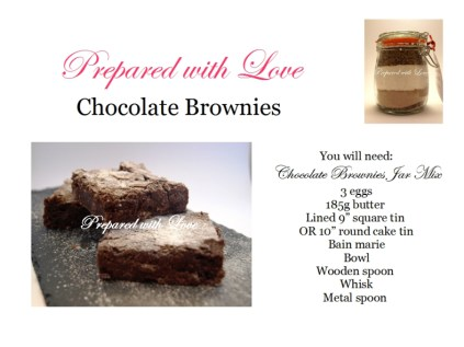 Step by step photo instructions for Prepared with Love Chocolate Brownie Mix Jars
