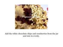 Prepared with Love White Chocolate and Cranberry Shortbread Step by Step Instructions