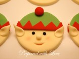 Flat Christmas Elves Faces Toppers
