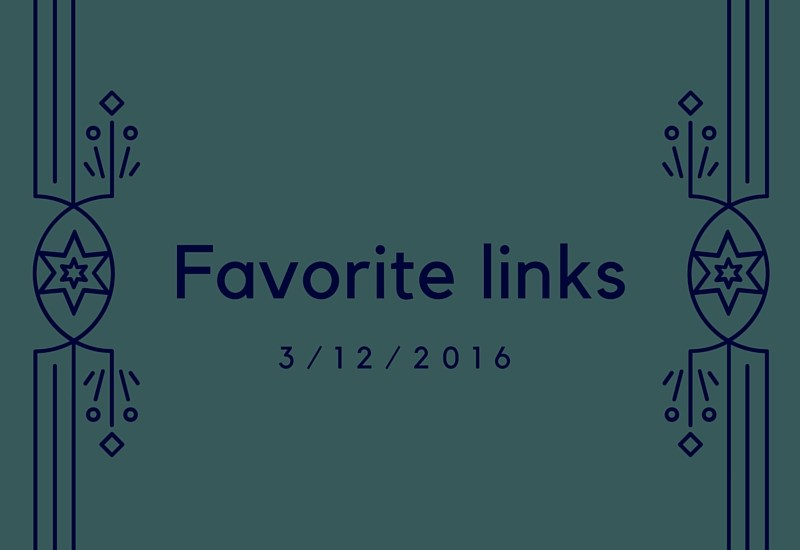Favorite link roundup for the week 3/12/2016 - fitness, health, science, writing, productivity, recipes