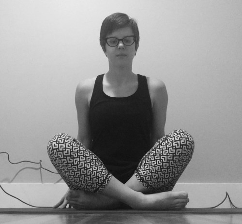 Yoga when you're inflexible - easy sitting pose