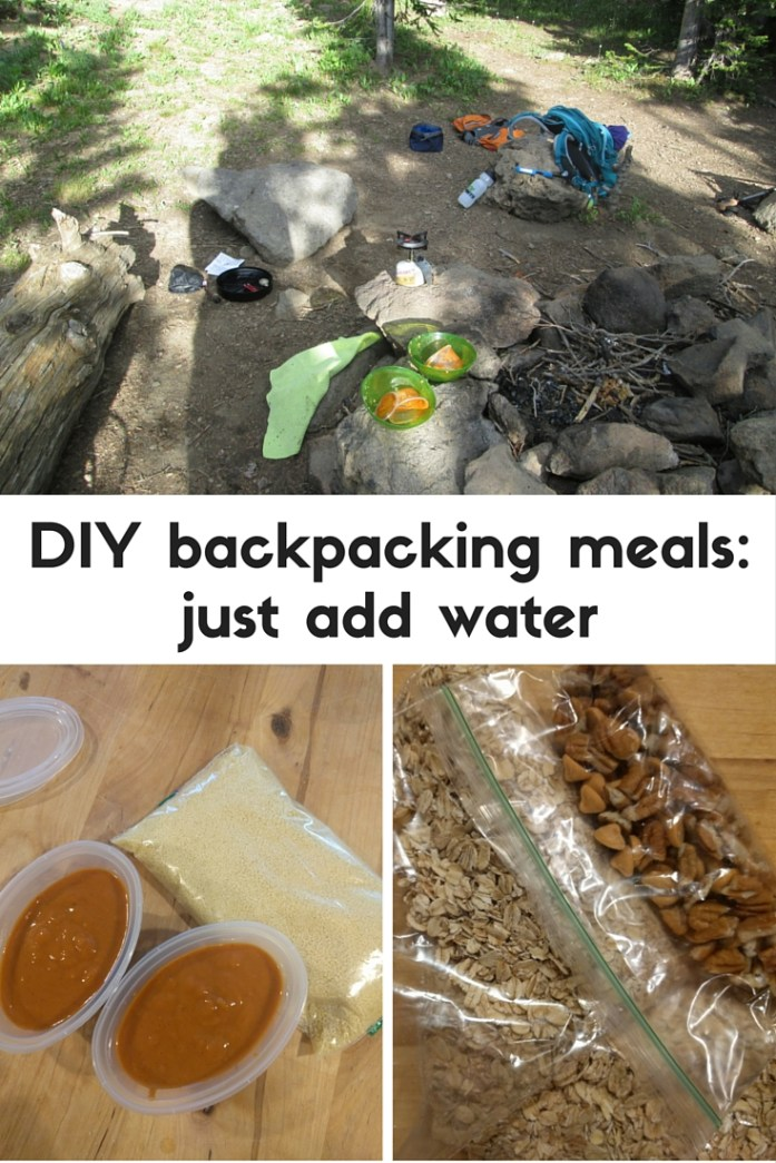 Just add boiling water to cook these DIY backpacking meals made with common pantry ingredients. Get recipes for couscous with peanut sauce and sweet & smoky camp oatmeal.