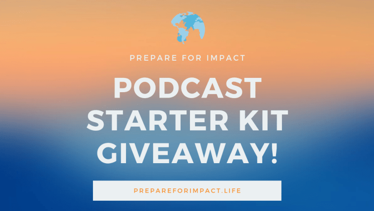 Podcast starter kit giveaway