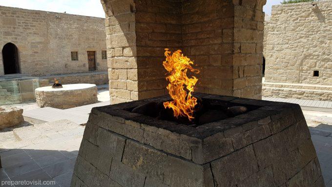 Ateshgah - The Fire Temple in Baku, Azerbaijan