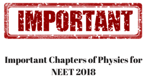 Important Chapters of Physics for NEET 2018 with Syllabus