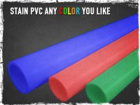 Stain PVC Any Color You Like - Preparing for shtf