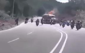 Venezuela Motorcycle attack