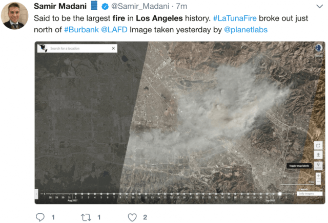 largest fire los angeles history