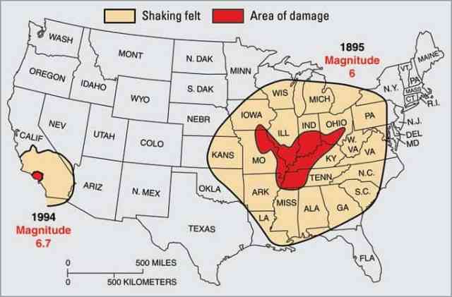 New Madrid Seismic Zone potential earthquake damage