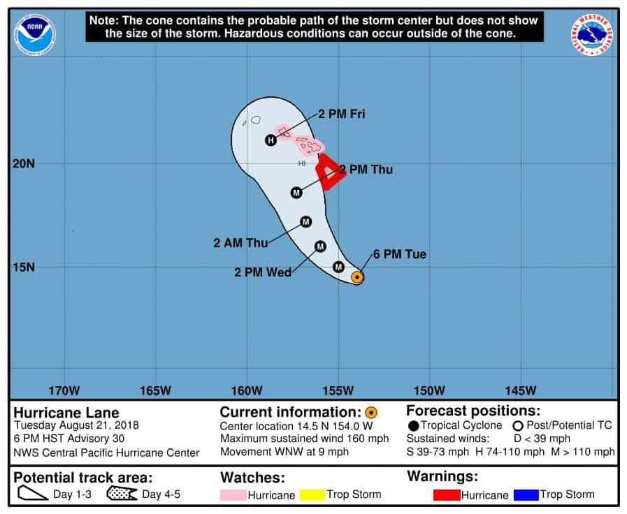 Hurricane Lane National Weather Service