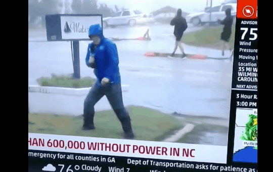 weather channel faking