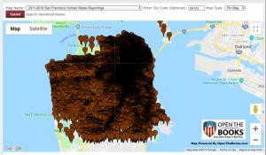 human feces map san Francisco
