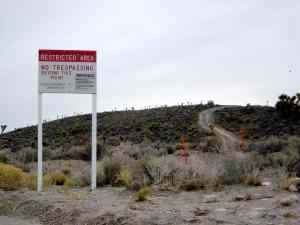 area 51 warning signs