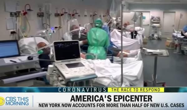 CBS italy hospital footage for NYC