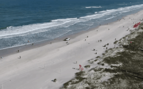 drone footage florida beaches social distancing