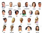 hair and hairstyles in english