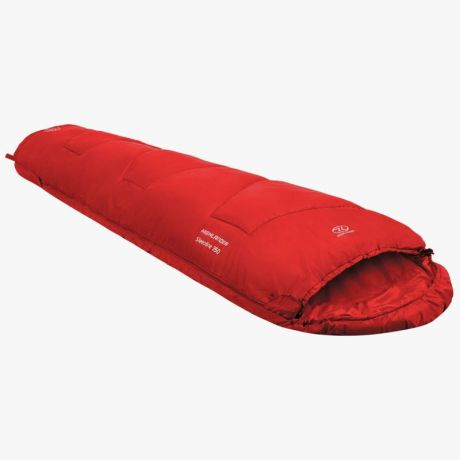 HIGHLANDER-SLEEPLINE-350-MUMMY-SLEEPING-BAG-RED-2