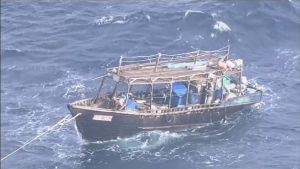 Rickety boat carrying 'North Koreans' found off Japanese coast