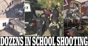 Gunman 'shoots up to 50' at Florida high school leaving 'many dead' after going on a rampage