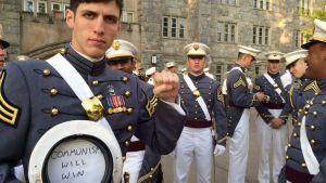 West Point grad who posed with 'Communism will win' in cap discharged