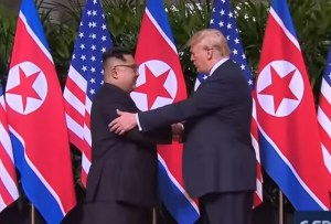 Historic Handshake: For The First Time Ever The Leaders Of The USA And North Korea Meet Face-To-Face