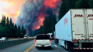 California's Delta Fire Shuts Down Interstate 5; Trucks Torched after Drivers Flee